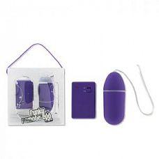 Фиолетовое виброяйцо Funky Remote Egg с дистанционным управлением - 7,5 см.   Дистанционное яйцо фиолетового цвета с вибрацией в форме овала.