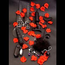 Элегантный набор чёрных вибраторов AMAZING PLEASURE   Великолепный набор  в подарочной коробке из 10 предметов, чёрного цвета.