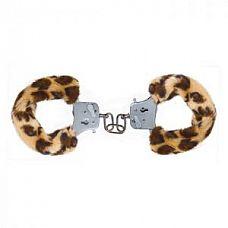 Наручники с леопардовым мехом Furry Fun Cuffs Leopard   Металлические наручники с искусственным мехом леопардового цвета.