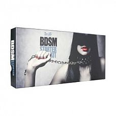 Набор БДСМ-аксессуаров BDSM STARTER   Великолепный набор в подарочной коробке из 7-ми предметов, черного цвета.