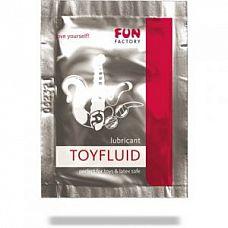 Лубрикант на водной основе Toyfluid - 3 мл.  TOYFLUID - это идеальная смазка для использования с эротическими игрушками из силикона.
