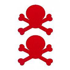 """Пестисы """"Череп"""" красные SH-OUNS008RED  Наиболее сексуальная часть женского тела   полуобнаженная женская грудь."""