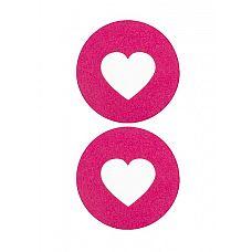 """Пестисы открытые""""Сердце""""розовые SH-OUNS004PNK  Как думаете, вашему партнеру понравится, как будет выглядеть ваш сосочек, выглядывающий из центра сердечка? Вот и мы считаем, что да."""