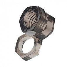Кольцо Screw Me The Big Socket Ring  Эрекционное кольцо с петлей для мошонки. Мягкий, легко растягивается до нужных Размеров.