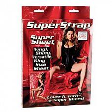 Покрывало красного цвета Super Strap Super Sheet  Шикарное виниловое покрывало красного цвета.