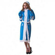 Голубой костюм Снегурочки  Костюм состоит из платья, пояса, шапки, варежек.