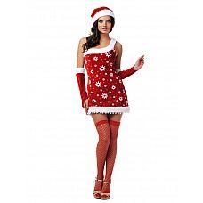 """Костюм """"Снегурочка"""" 02806ML  Хотите сразить всех наповал на взрослой вечеринке по празднованию Нового года? Обратите внимание на эту модель № платье с ярко выраженным сексуальным характером."""