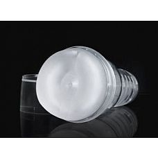 Прозрачный мастурбатор-анус Ice Butt Crystal  Мастурбатор-анус для мужчин в прозрачном кейсе с полупрозрачной белой вставкой.