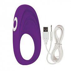 Фиолетовое виброкольцо Embrace pleasure rings  Фиолетовое виброкольцо Embrace pleasure rings