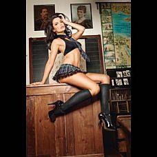 Чёрные гольфы High School girl   Сексуальные короткие черные чулки - идеальное дополнение к костюму учительницы младших классов.