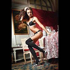 Высокие чёрные чулки в горошек Playful French Maid  Высокие черные чулки в белый горошек придадут Вам игривое настроение.