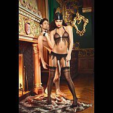 Чёрные чулки с зигзагообразным узором Obedient Slave  Высокие черные чулки - идеально подойдут к образу послушной рабыни .