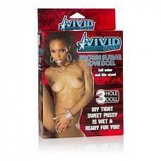Надувная секс-кукла Vivid Raw Brown Sugar Love Doll   Кукла Vivid Raw Brown Sugar Love Doll мулатка. 3 любовных отверстия.
