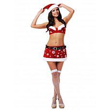 """Костюм""""Сексуальная снегурочка"""" 02817ML  Ищете костюм Снегурочки недорого? Этот обворожительный наряд для юных красавиц как раз из этой категории."""