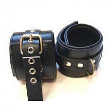 Оковы для ног с застежкой, ремешком и одним сварным кольцом  Не подшитые черные наножники , имеют застежку, с помощью которой удобно регулируется Размер.