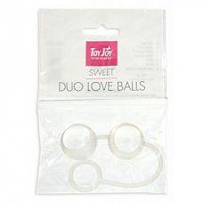 Стеклянные вагинальные шарики Duo Love Dalls на силиконовой сцепке  Вагинальные шарики на силиконовой сцепке.