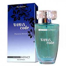 Женские духи Natural Instinct Woman Code - 50 мл.  Классические женские духи, насыщенные феромонами, воздействующими на мужской пол особенно притягательно и привлекательно.