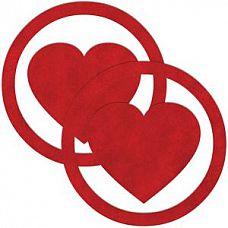Красные пестисы Round Hearts в виде сердечек в круге  Красные пестисы Round Hearts в виде сердечек в круге.