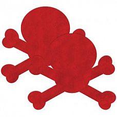 """Красные пестис на грудь в форме черепов  Пестисы """"Череп"""" красные SH-OUNS008RED"""