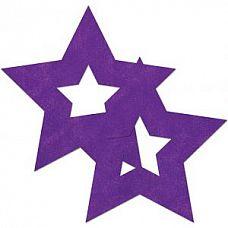 Фиолетовые наклейки-звёздочки на бюст  Фиолетовые наклейки-звёздочки на бюст.