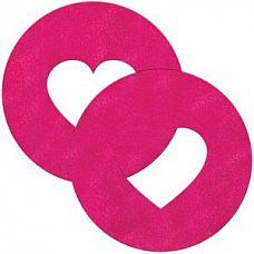 Розовые круглые пестисы с сердечками  Розовые круглые пестисы с сердечками.