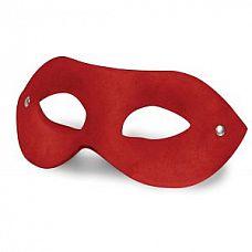 Красная замшевая маска на глаза Leather Mask  Маска на глаза, изготовленная из замши с подкладкой из кожи.