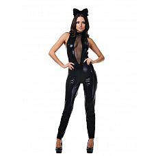 Костюм черной кошки (Le Frivole) , M/L  Продемонстрируйте своему партнеру эротический образ, в котором вы будете озорной кошечкой.