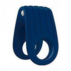 Двойное синее эрекционное виброкольцо B12  Инновационный двойной дизайн, закруглен для удобства использования.