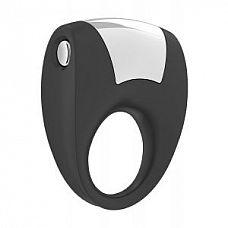 Чёрное эрекционное кольцо B8 с вибрацией  Твердая поверхность обеспечивает максимальную вибрацию, расположение в сторону партнера.
