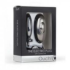 Анальная втулка с электростимуляцией - 8 см.  Electro Plug от Ouch! - это полный комплект, который идеально подходит для тех, кто иногда использует электростимуляцию.