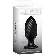 Анальная пробка Platinum Premium Silicone The Swirl черная  Анальная пробка Platinum Premium Silicone – The Swirl – Black - это красота и функциональность.