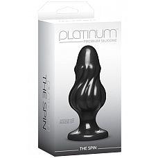 Анальная пробка Platinum Premium Silicone The Spin черная  Анальная пробка Platinum Premium Silicone – The Spin – Black - это красота и функциональность.