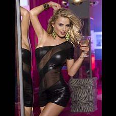 Клубное платье с открытым плечом  Эффектное клубное платье с прозрачными вставками и открытым плечом сделает вас незабываемой.