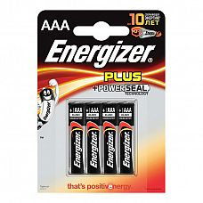 Батарейки AAA Energizer Plus Base Alkaline LR03 - 4 шт  Мизинчиковые батарейки Energizer типа ААА, алкалиновые.
