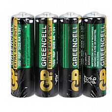 Батарейки AA GP R6 зеленые - 4 шт