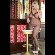 Комбинезон-сетка с декоративной шнуровкой на груди  Комбинезон-сетка с декоративной шнуровкой на груди.