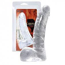 Прозрачный реалистичный фаллоимитатор из желейного материала - 15,2 см.  Прозрачный реалистичный фаллоимитатор из желейного материала.
