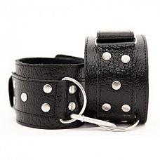 Чёрные кожаные наручники   Кожаные наручники черного цвета.