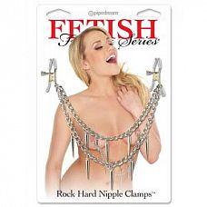 Зажимы для сосков Rock Hard Nipple Clamps   Зажимы для сосков Rock Hard Nipple Clamps.