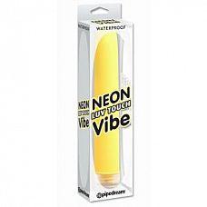 Желтый водонепроницаемый вибратор Neon Luv Touch Vibe - 19 см.  Невероятно управляемый и очаровательно яркий вибратор с супер тонким дизайном.