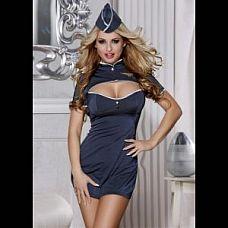Костюм отчаянного пилота  Платье борtprоводницы с короткими рукавами.