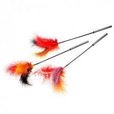 Стек-щекоталка с натуральными перьями  Щекоталка с натуральными перьями.