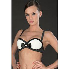 Элегантный бюстгальтер (Maison Close) , L, Черно-белый  В вашем гардеробе обязательно должен быть тематический бюстгальтер.