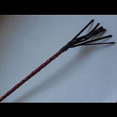 """Стек плетеный короткий 10 см., наконечник кисточка.  Стек плетеный короткий, наконечник """"Кисточка"""" 10 cм.Красный лак."""