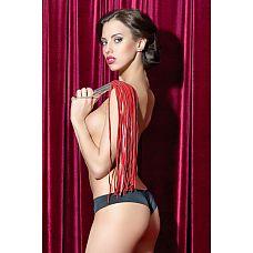 Красная кожаная плеть  Стильная  плеть из красной кожи с металлической рукояткой.