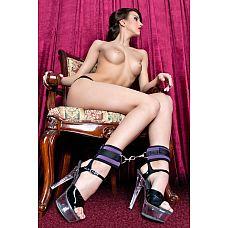 Оковы на ноги из неопрена фиолетового цвета  Оковы на ноги из неопрена фиолетовые.