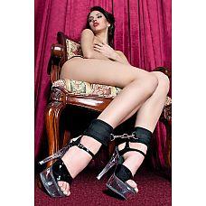 Оковы на ноги из неопрена черного цвета  Оковы на ноги черные неопреновые.