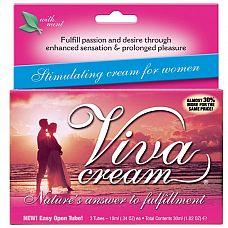 Стимулирующий крем VivaCream для женщин - 30 мл.  Этот возбуждающий гель воздействует на кожу так необычно № сначала охлаждает, затем разогревает.