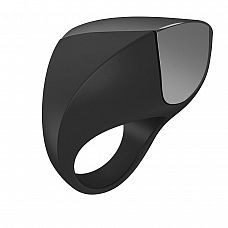 Черное перезаряжаемое эрекционное кольцо  Перезаряжаемое с помощью USB эрекционное кольцо.