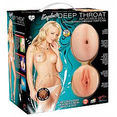 Надувная секс-кукла Kaydens Deep Throat с вибрацией и реалистичными вставками из CyberSkin^  Надувная секс-кукла Kaydens Deep Throat с вибрацией и реалистичными вставками из материала CyberSkin^